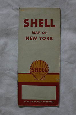 Shell Road Map - New York 1960