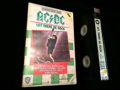 Ac/dc Let There Be Rock Australian Vhs Big Box Video Acdc
