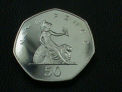 GREAT  BRITAIN    50  Pence   1980     PROOF