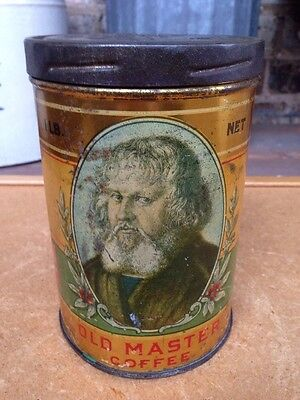 Pat. 1923 Blodgett Beckley Co. Old Master 1 Lb Coffee Can Tin