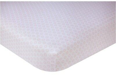 Nojo Chantilly  Fitted Crib  Sheet   White - Pink