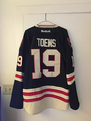TOEWS CHICAGO BLACKHAWKS 3rd BLACK Reebok Premier YOUTH Jersey S M ... 70eccf8ea