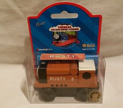 Thomas wooden Rare 1998 Rusty Brown Label New in Box