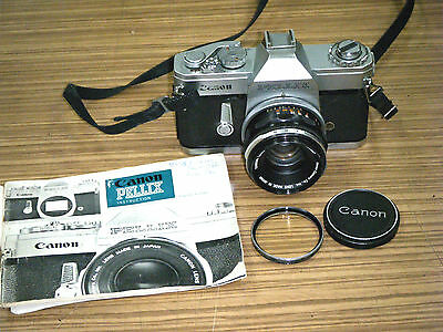 Canon Pellix Film Camera with FL 50mm 1:1.8 Lens