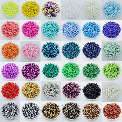 5000Pcs 2mm Multi Colorful Round Opaque Glass Seed Beads Jewelry Making For DIY