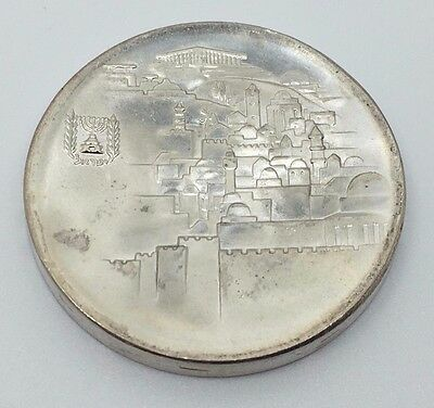 1968 Israel Proof 10 Lirot 20St Anniversary Of Independence Silver Coin