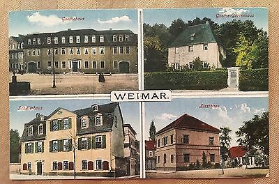 AH366 Early Multiview Weimar Thuringia Germany Goethe Schiller Liszt  Vintage PC