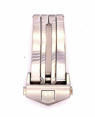 Tag Heuer Carrera Monaco Stainless Steel Deployment Clasp 18mm Silver TAG602