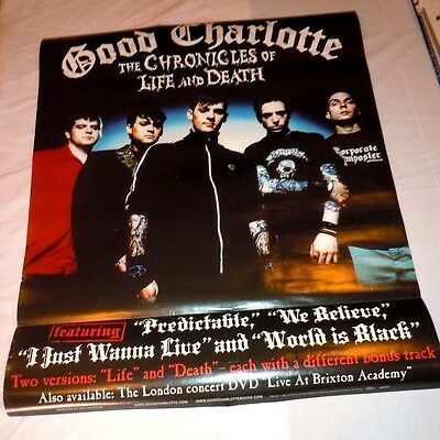 GOOD CHARLOTTE~Chronicles of Life Death~Original Promo Poster~24x30~2004~Ex Cond