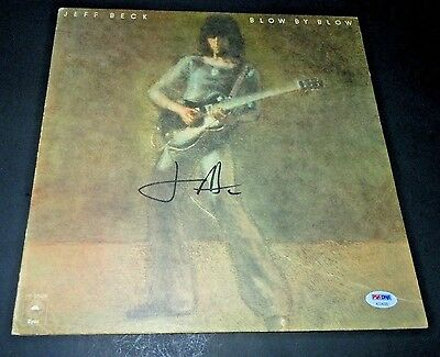 JEFF BECK~Signed~Blow By Blow~Original Album~PSA/DNA~Proof~Excellent Condition