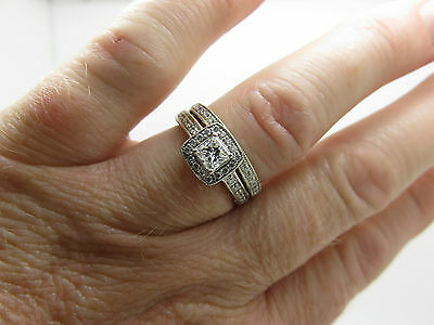 14Ct White Gold Michael Hill Diamond Engagement Ring & Wedding Ring Set**layby**