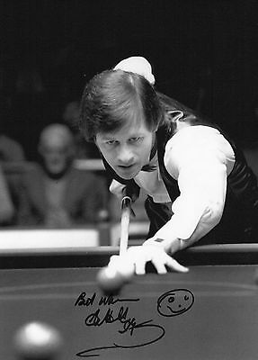 Authentic Signed Alex Higgins 12 X 8 Photo With Proof...real Signature...coa...