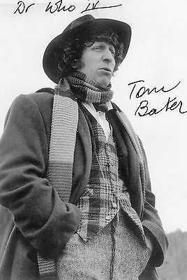 Authentic Signed Tom Baker Doctor Who Promo Photo Card Real Signature..coa