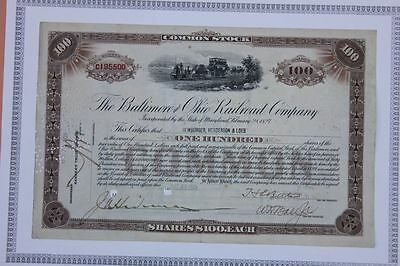 The Baltimore and Ohio Railroad Company  100 Shares 1929
