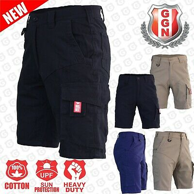 Men's Cargo Work Shorts, Cotton Drill Work Wear 13 pockets Modern Fitting