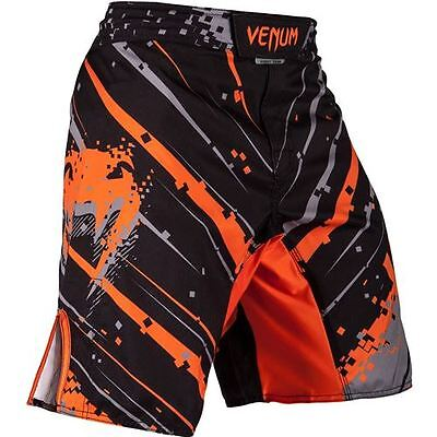 Venum Pixel Fight Shorts - Black/Grey/Orange