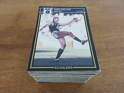 1987 Scanlens Vfl Cards. Complete Set. Near Mint Condition.