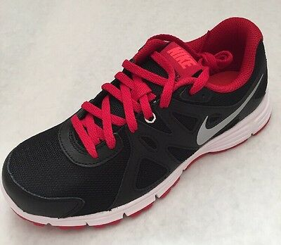 Nike Revolution 2 GS Shoes Youth Boys MULTI SIZE 555082 020  BLACK/GYM RED