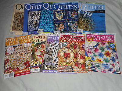 BULK LOT OF QUILTING AND PATCHWORK MAGAZINES a total of 10  MAGAZINES