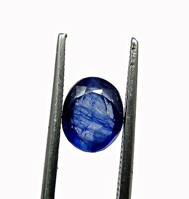 Certified 3.50 Ct Natural Blue Sapphire Oval Loose Gemstone