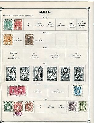 Nigeria Stamp Collection - 1910s to 1960s
