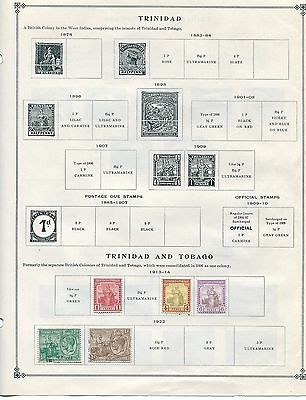 Trinidad and Tobago Stamp Collection - 1910s to 1980s