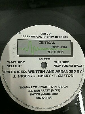 rare electronic breakbeat 12 CRR 001 sellout