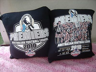 Collingwood Football Premier 2010  Afl One Pair Of Cushion 40  Cm / 16 Inches