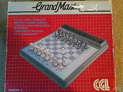 Vintage CGL Grandmaster Electronic Chess Set. Boxed and unused.