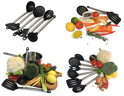 Silicone & Stainless Steel Kitchen Cooking Utensil Set Gift Turner Spoon Ladle