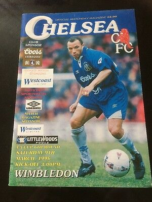 Chelsea V Wimbledon 9th March 1996