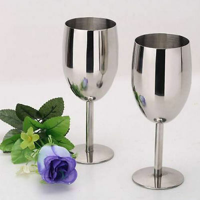 stainless steel 2pcs wine glasses Creative Cup Mug Goblets Bar Restaurant 8106H