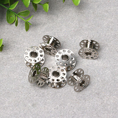 10 pcs/pack Sewing Machine Bobbins Alloy Metal For Sew Machine Silver Color Set