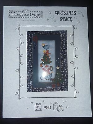 Waxing Moon Designs Cross Stitch Patterns # 084 - Christmas Stack