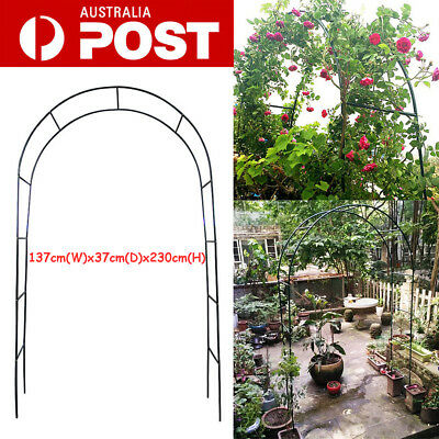 Metal Garden Arch Garden Climbing Plant Outdoor Decor Feature 2.3m Green