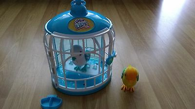 Little Live Pets Bird Cage + 2 Talking Birds
