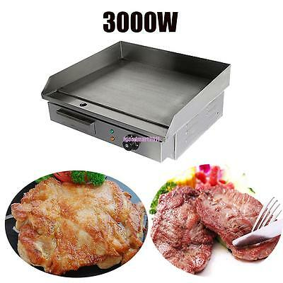 3KW Power Commercial Electric Griddle Even heat distribution 8mm cooking plate