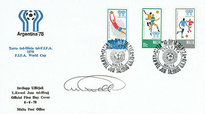 Archie GEMMILL Signed Autograph Argentina 1978 World Cup 2 FDC COA AFTAL