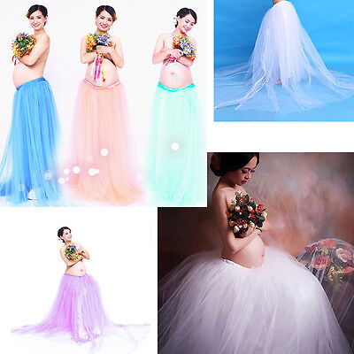 2017 Photography Props Voile Maternity Skirt Pregnant Gown Dress Studio Clothing