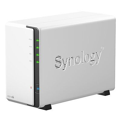 Synology DiskStation DS213air NAS-Server mit WiFi bis 8TB 2-Bay 2x USB 3.0 1,6GH