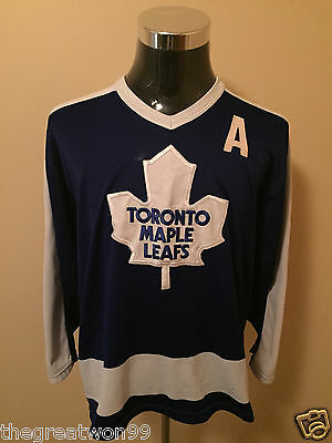 NHL Toronto Maple Leafs #9 MED** 1978-92 Vintage Maska Ice Hockey Jersey by CCM