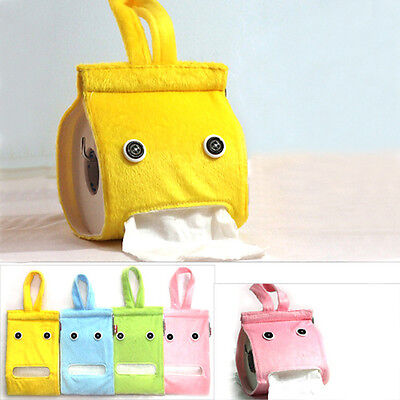 Portable Hanging Tissue Box Holder Dispenser Cloth Toilet Paper Container Box