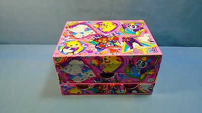 LISA FRANK Organizer Jewelry Craft Pencil Box Bear Dog Unicron Pandat Cat