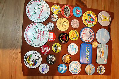 Vintage Lot Of Badges Pudsey Bear 1986,nspcc,govner Nillson And Other's..