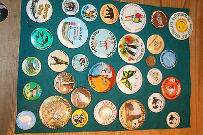 Vintage Lot Of Badge's Chessington Zoo,save The Whale,wwf And Other's..