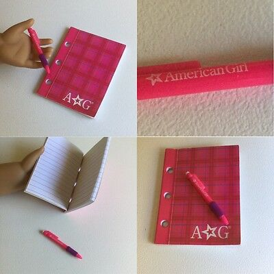 """Authentic American Girl Doll Notebook + Pen Fit Our Generation 18"""" Doll Clothes"""