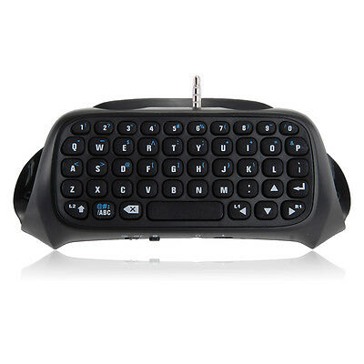 Mini Bluetooth Wireless Chatpad Message-Keyboard for PS4 Playstation4 Controller