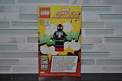 Lego Sdcc Comic Con 2012 Exclusive Black Spiderman Dc Marvel New With Card