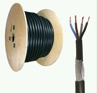 25mm 4 Core SWA Steel Wire Armoured XLPE Electrical Cable 17M  BASEC Approved