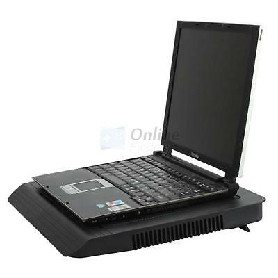 "USB 2 Fan LED Cooling Cooler Pad Stand for 14"" - 16"" Laptop PC Notebook Black UK"